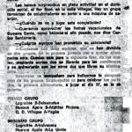 1974. Recorte de prensa sobre el primer Torneo Villegas.