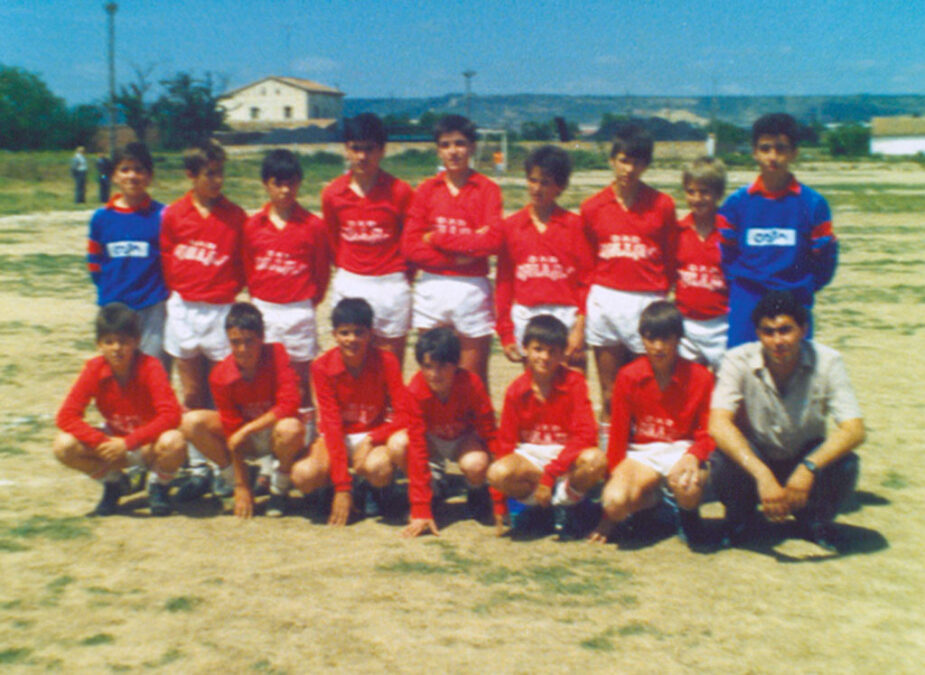1986-87. Alevín A Del CD Villegas.