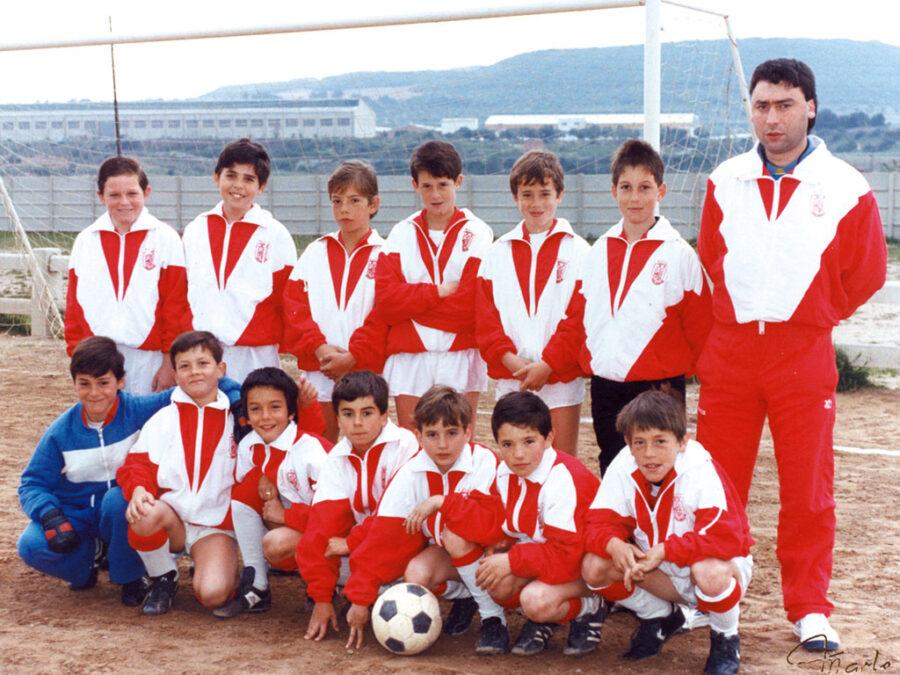 1990-91. Alevín A Del CD Villegas.