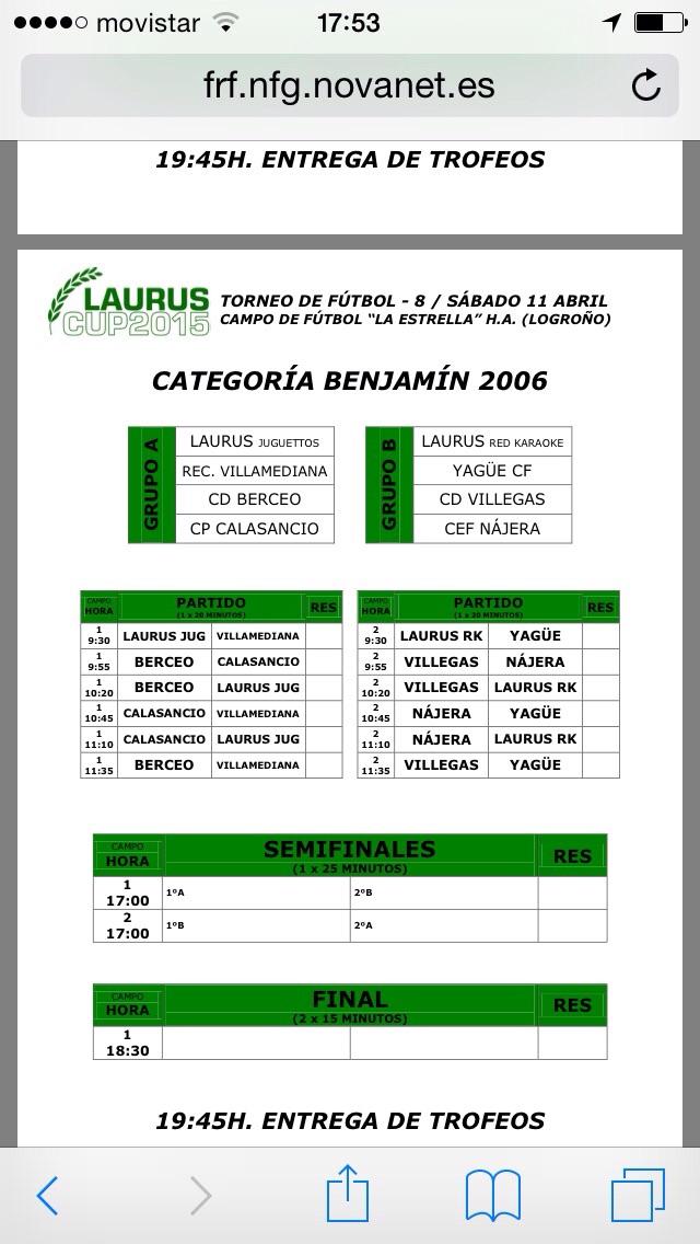 Torneo Laurus 2015